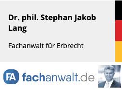 Dr. phil. Stephan J. Lang Mitglied auf fachanwalt.de